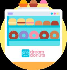 Vitrine de donuts